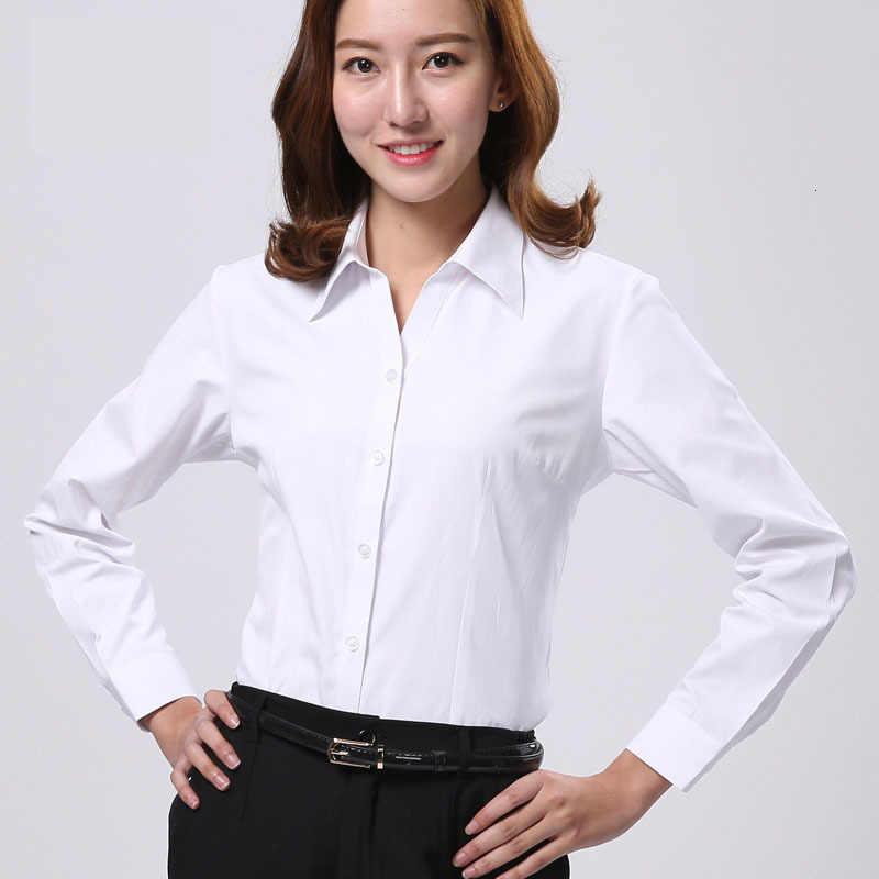 Męska koszulka z długim rękawem sukienka w jednolitym kolorze biurowa, damska formalna bluzka z nadrukiem dostosowana do pracy Unisex jednolite bluzki