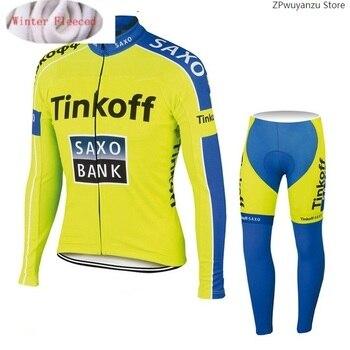 2020 Saxo bank Tinkoff invierno térmico polar Ciclismo Jersey Ropa Ciclismo MTB...