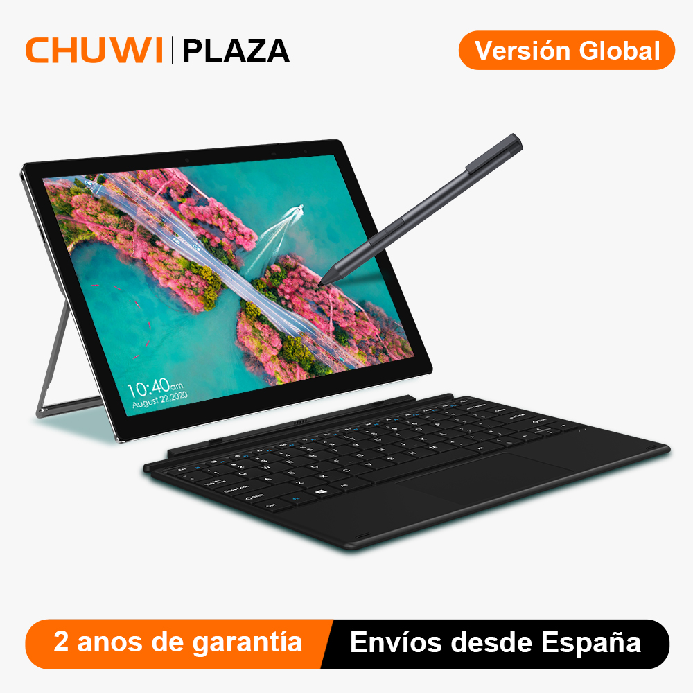 CHUWI UBook X 12 pulgadas, resolución de 2160x1400 Intel Celeron N4100 8GB RAM 256GB SSD Windows 10 Tablet PC cámaras duales HDMI Micro
