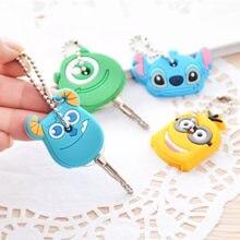 Porte-clés pendentif mignon en forme de dessin animé, jolie petite housse de protection en Silicone pour le contrôle des clés, décor anti-poussière