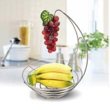 Кухонная корзина для бананов и фруктов железная подставка вешалка