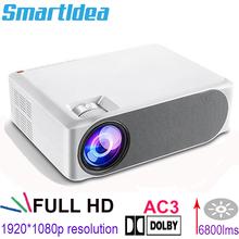 Projektor Smartldea Real 1080p AC3 Full HD M19 Android 9 0 1920x1080p 6800lms multimedialny projektor gry wideo 3D Home Beamer tanie tanio Korekcja ręczna Automatyczna korekcja CN (pochodzenie) Rohs Projektor cyfrowy 4 3 16 9 150W Focus 6800lumens (680ansi)