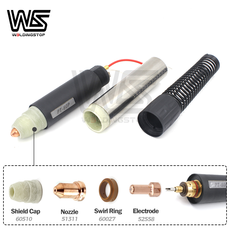 Head PT80 180 Pencil Torch Type PT 80 Degree 80 Vertial Body IPTM Cutting Machine 09810 Torch Plasma PTM 80 CNC