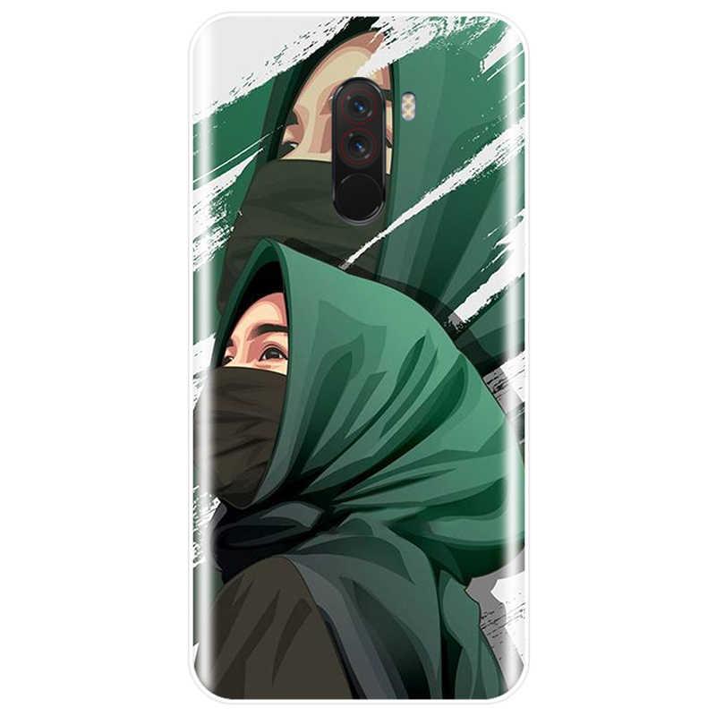 קריקטורה מוסלמי אסלאמי ילדה כיסוי רך סיליקון TPU מקרה טלפון Redmi 4 4X 4A 5A 5 בתוספת 6pro 7 הערה 5 4X 5A 5 6 פרו 7