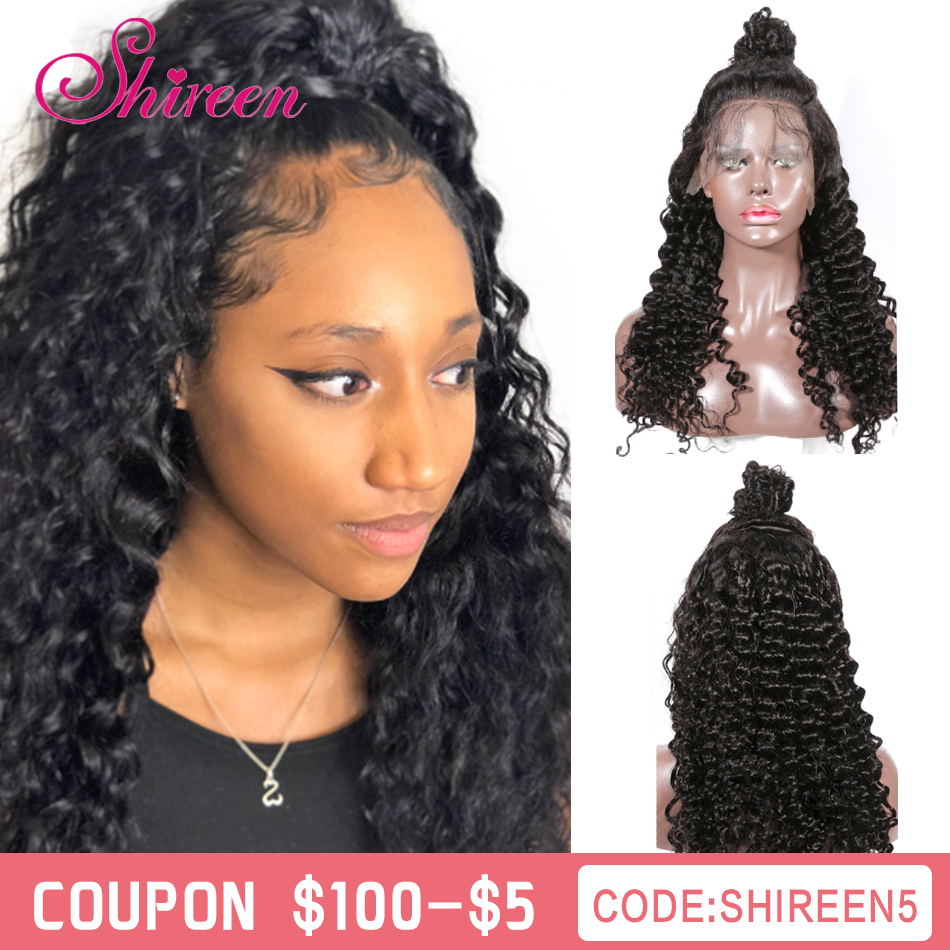 Shireen Brazilian Deep Wave Human Hair Wigs With Baby Hair Short Bob Lace Front Human Hair Wigs For Black Women 13x4 Lace Front