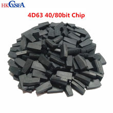Hkcymar 10/50/100 peças, alta qualidade! 4d63 40/80bit id63 id83 tp33 transponder, chip de transponder de cerâmica branca para chave de carro ford mazda inn