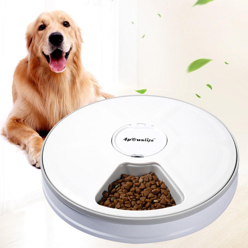 Автоматическая кормушка для домашних животных для кошек, собак, ЖК дисплей, дозатор для еды, 6 лотков для еды, миска для собак|Кормление собаки|   | АлиЭкспресс