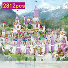 Friends City Castle Dream Fairy Tale Funny Princess Castle Model Building Blocks Girl  Figures Education Toys for Children Gifts