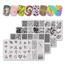 6*12 см пластины для штамповки ногтей трафарет из нержавеющей стали винтажный мраморный геометрический дизайн ногтей DIY Дизайн ногтей Аксессуары для трафаретов инструмент