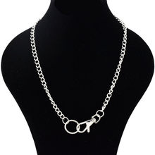 Stainless Steel Sliver Necklace Waterproof Men woman Cuban Curb Link Chain Stainless Steel Jewelry(China)