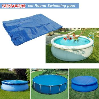 Swimming Pool Cover Dust Rainproof Pool Cover Blue Round Tarpaulin Durable For Family Garden Pools Swimming Pool & Accessories swimming pool cover spa rainproof dust covers for outdoor swim sports gym cover accessories
