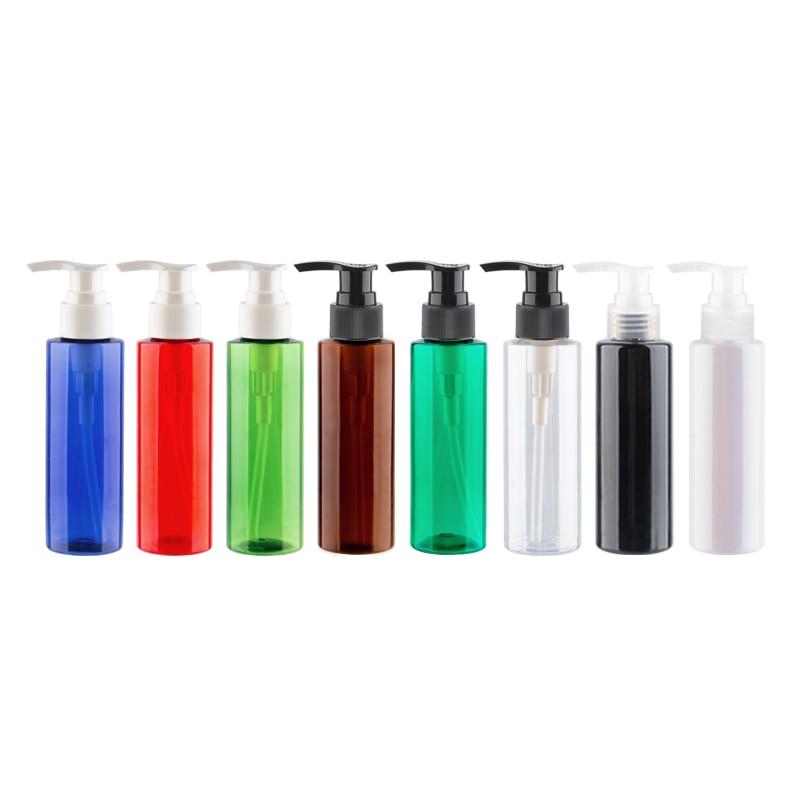 120ml X 40 bomba de jabón líquido vacía botellas de loción cosmética de plástico contenedor de champú para mascotas con bomba de loción 4oz champú de la botella de la bomba-in Botellas rellenables from Belleza y salud    1