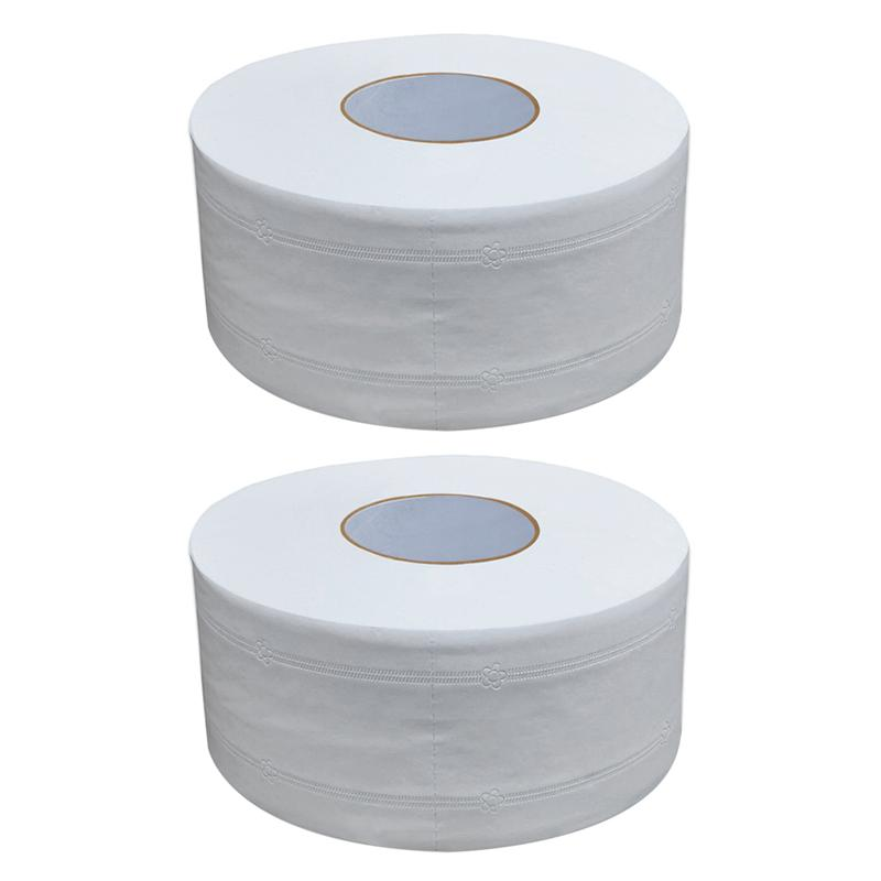2pcs Large Roll Paper Toilet Paper Household Toilet Household Large Rolls Of Toilet Paper For Home Office Workshop
