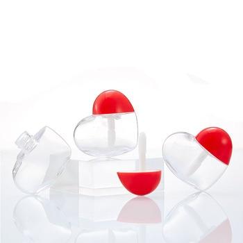 5ml Love Heart ABS Lip Gloss Lip Glaze Tube Lipstick Balm Tube Lip Care Serum Bottle Refillable Empt