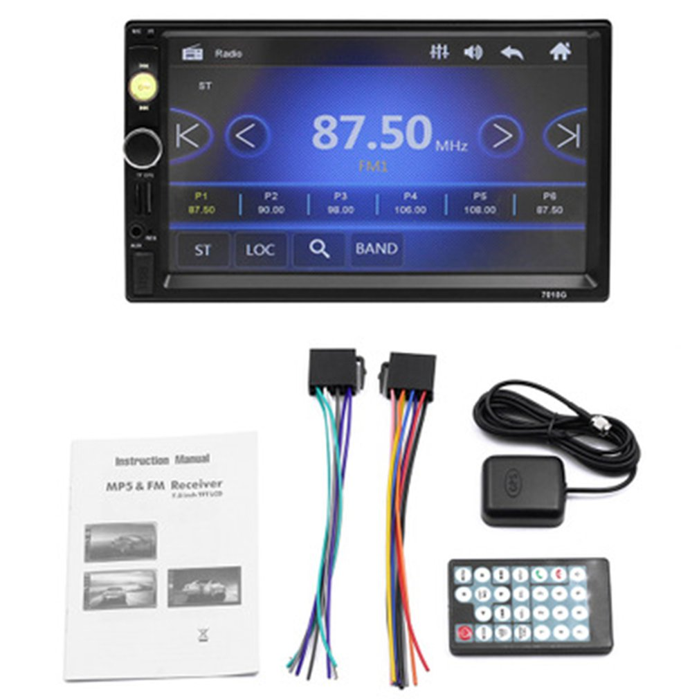 Multi-function <font><b>7010G</b></font> Bluetooth Phone Call MP5 Player GPS Navigator multimedia player Car Aid Accessories image