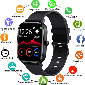 LIGE New Men Smart Watch Wristband Men Women Sport Clock Heart Rate Monitor Sleep Monitor Bluetooth Call Smartwatch for phone runfengte smart watch wristband bluetooth call men women sport clock oximeter heart rate monitor low power intelligent mobile watch tracker for phone