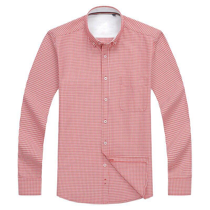 Large Size Plaid Long Sleeve Shirt 2020 Brand Clothing Men Men's Clothings Men's Shirts Men's Tops