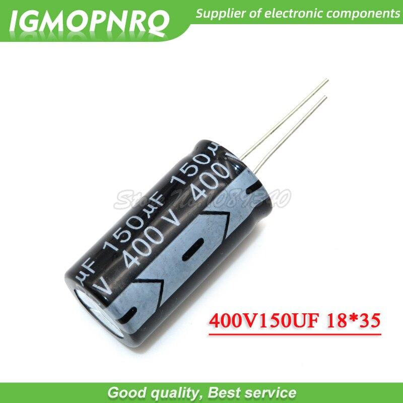 5PCS 400v150uf 150uf400v 18*35MM 400v 150uf 18x35 Electro Electrolytic Capacitor 400V150UF