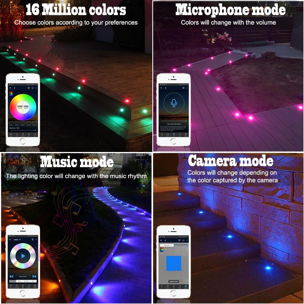 lowest price 10pcs lot 5Pin RGBWW 31 45 61mm 12V IP67 Terrace LED Deck Stair Soffit Step Up Lights Kit Bluetooth Mesh Controller Timer Dimmer