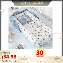 נייד תינוק קן מיטת עבור בני בנות נסיעות מיטת תינוק כותנה עריסת עריסה תינוק עריסה יילוד מיטת