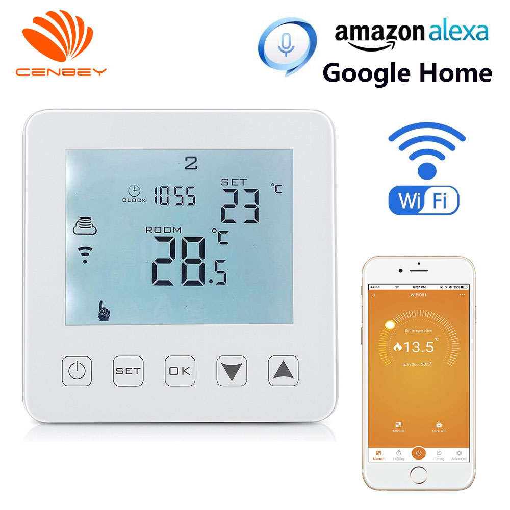 Wifi Thermostat Smart Thermostat Alexa Boiler Temperature Controller Central Heating Room Thermostat Underfloor Heating 16A 220V