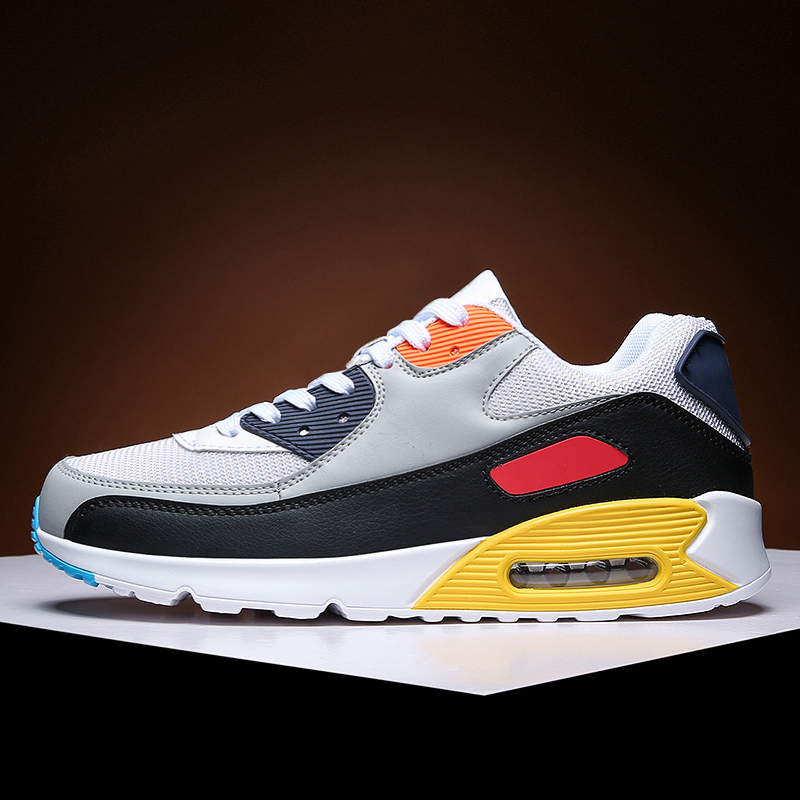 Mens Fashion Sneakers 2021 New Casual Running Shoes Light Breathe Outdoor Air Cushion Jogging Shoes Couple Shoes Lace-up Size 13