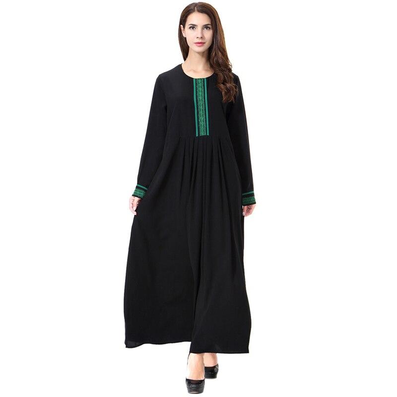 Muslim Abaya Hijab Dress Women Big Swing Loose Robe Arab Islamic Clothing Islam Kaftan Tunic Middle East Maxi Vestidos Mujer