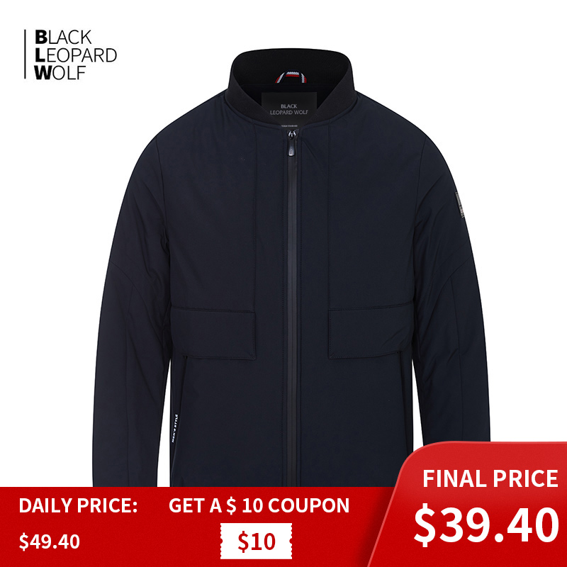 Blackleopardwolf  New Spring  Men's Jacket Male  Thin Cotton Business Casual Stand Collar Male Windproof Short Coat Pilot 6203