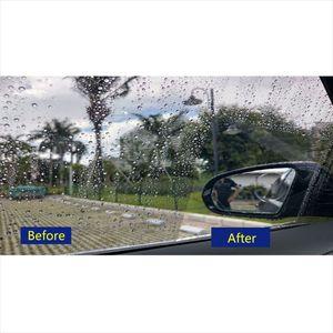 Image 3 - Película de niebla para coche, revestimiento antiniebla, impermeable, hidrófobo, para retrovisor, película protectora para espejo, 4 tamaños, 1 par
