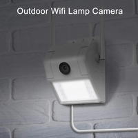 1080P Wireless WIFI IP Kamera Sudut Lebar Keamanan Kamera Malam Visi Lampu Dinding Lampu Jalan Kamera Outdoor Tahan Air Audio