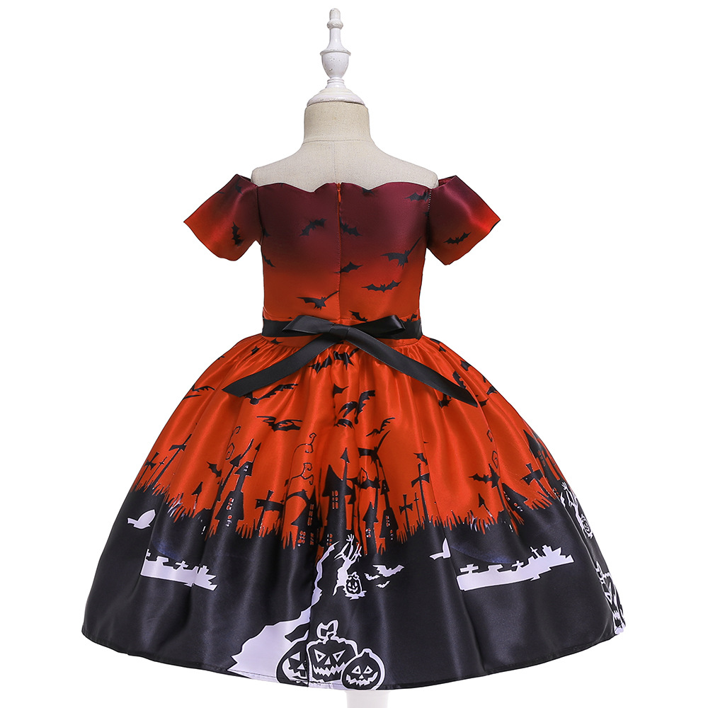 Girls Dresses For Kids 2019 Halloween Cosplay Party Dress Clothes Teens Princess Dress Hat Children Christmas Carnival Dresses (4)