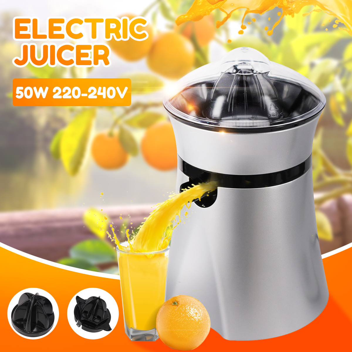 220-240V Electric Juicer Stainless Steel Citrus Orange Fruit Lemon Squeezer Juice Extractor Juice Presser Fruit Drinking Machine