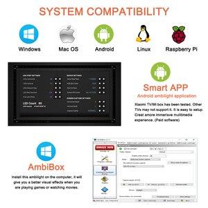 Image 4 - WS2812B Tira de luz LED Ambilight, USB, HDTV, retroiluminación para Pc, Monitor de luces de escritorio, cinta de neón RGB, Ws2812, lámpara Fita