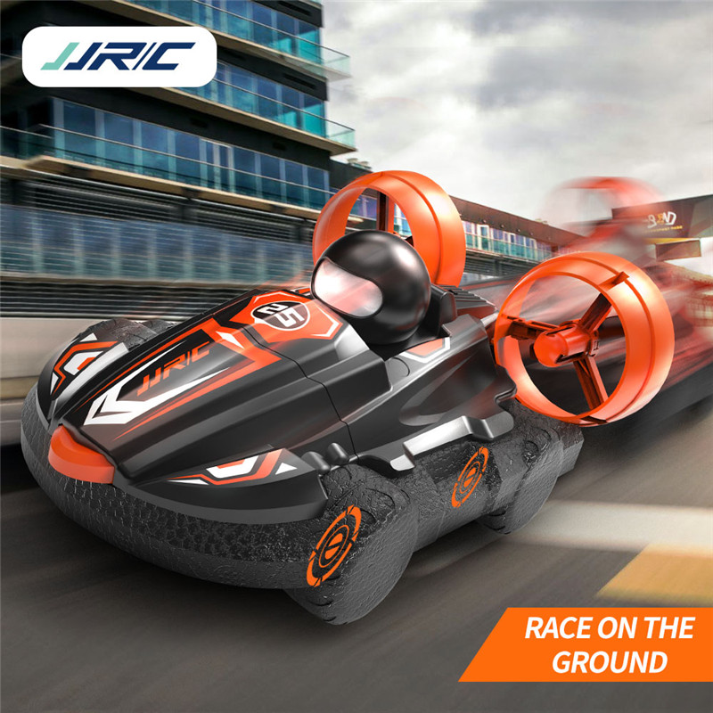 JJRC Q86 2.4G 2 IN 1 Amphibious Drift Car Remote Control Hovercraft Speed Boat RC Stunt Car for Kid Boys Outdoor Model Toys