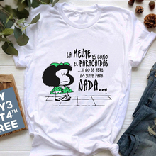 Mafalda T-shirt Women Summer harajuku letter print Short Sleeve fashion Creativity Casual Girl Tops Tee 90s cartoon tshirt Femme