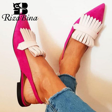 RIZABINA Women Sandals Fashion Tassle Sexy Flats Summer Shoes