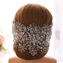 TRiXY H240 Luxury Bridal Crown Handmade Bridal Crown and Tiara Crystal Wedding Headband Bridal Hair Accessories Hair Jewelry