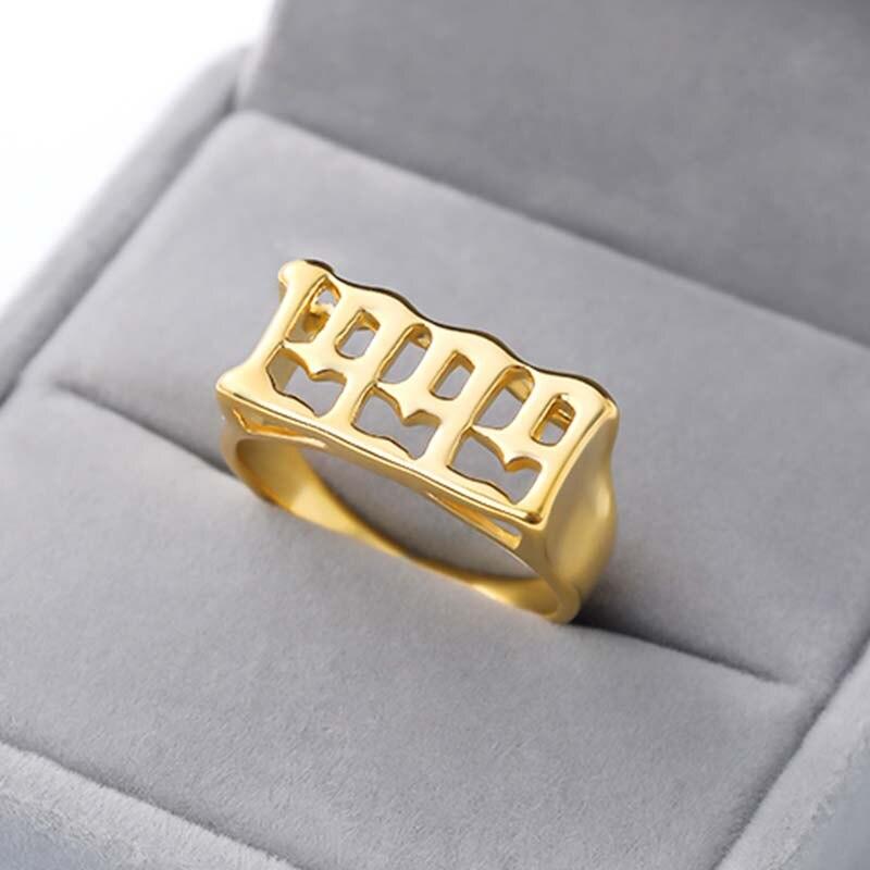 Изящное любое пользовательское именное кольцо персонализированное Рукописное кольцо для подписи индивидуальный подарок для нее ювелирны...