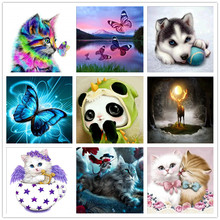5D DIY diamond painting painted cartoon animal mosaic embroidery set cross stitch crafts ornaments