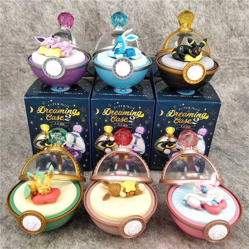 Pokemon Blind Box Anime Eevee Family Super Cute Sleeping Pokemon 6 Styles Toy Doll Decoration Gift for Little Girl