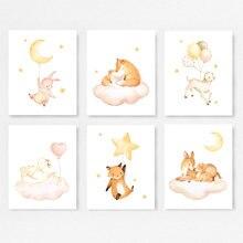 Украшение для детской комнаты с изображением медведя кролика