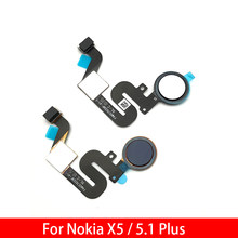 "5pcs For Nokia 5.1 Plus / X5 TA-1109 5.86"" Fingerprint Sensor Scanner Touch ID Connect Motherboard home button Flex Cable(China)"