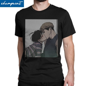 Men Killing Stalking Sangwoo Yoonbum T Shirts Bum Korean Yaoi Manga Clothes Fashion Crew Neck Tee Shirt Plus Size T-Shirt(China)