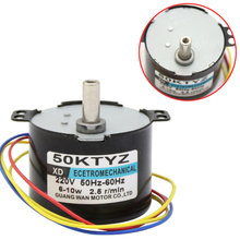 10W 50KTYZ 220V 2.5rpm Synchronous Motor Permanent Magnet Home Electric Work Ecetromechanical Tools Supplies