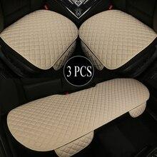 3PCS Leinen Auto Sitz Abdeckung Kissen Vier Jahreszeiten Universal Flachs Vorne Hinten 5 Seat Protector Pad Geeignet für 99% der Auto