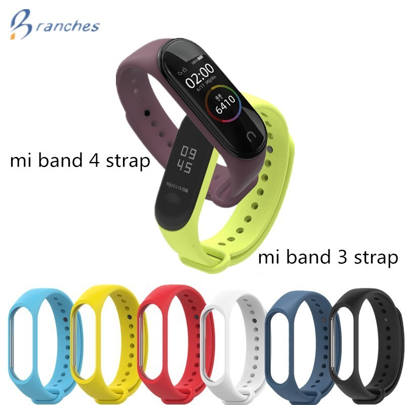 Silicone Smart Bracelet For Xiaomi Mi Band 3 4 Sport Strap Watch Wrist Strap For Xiaomi Mi Band 3 4 Bracelet Miband 4 3 Strap