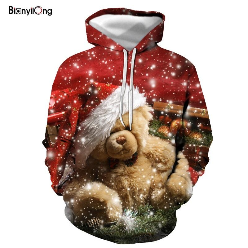 2019 New Christmas 3D Hoodies Men/Women Autumn Winter 3D Printed Hoodie Sweatshirt Man Fashion Pullover Velvet Sweatshirts Men