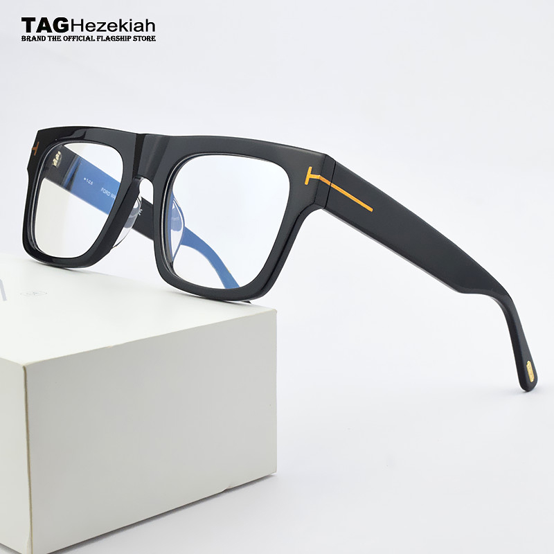2020 Brand Square Eyeglasses Women Optical Glasses Frame Men Big Box Myopia Prescription Transparent Spectacle Frames TF5634-B