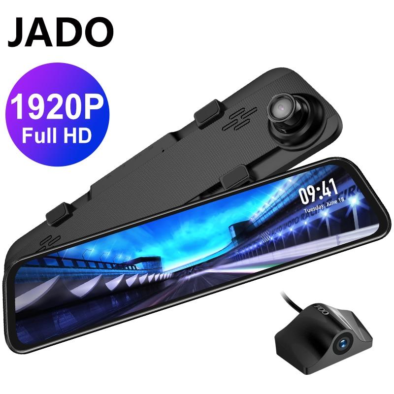 JADO, G840S автомобиля тире Камера 12-дюймовый вид спереди Dvr Камера 1296P 1080HD задний зеркальный объектив Регистраторы видео Регистраторы видеореги...