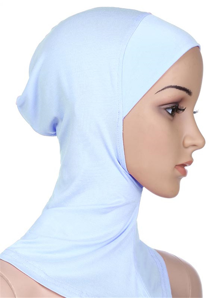 Image 3 - Muslim Women Girls Sport Inner Hijab Caps Islamic Soft Stretchble  Underscarf Hats Crossover Classic Style WholesaleIslamic Clothing   -
